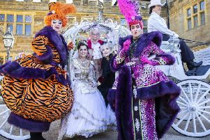 The Royal and Derngate launches Cinderella pantomime at Delapre Abbey with Anita Dobson as the Wicked Stepmother, Bernie Clifton as Baron Hardup, Tommy Wallace and David Dale as the Ugly Sisters and Charlotte Haines as Cinderella