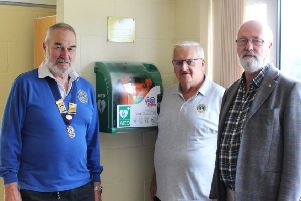The Sidney West defibrillator is the 36th defibrillator the Burgess Hill Lions have provided at community venues and public spaces in the area. SUS-190916-093444001