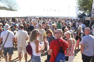 The crowds at the Worthing Food and Drink Festival in Steyne Gardens