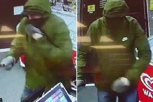 Police have released this CCTV footage in an attempt to identify the suspect. Photo: Sussex Police