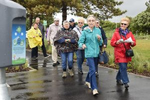 Freedom Leisure Healthy Walkers Group taking part in Beat Street