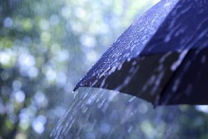 A weather warning for rain has been issued by the Met Office