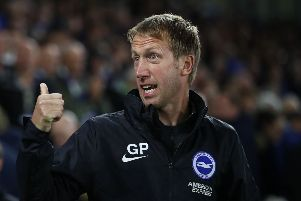 Graham Potter threw the youngster in against Aston Villa (Getty)