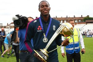 World Cup winner and former Horsham player Jofra Archer. Picture courtesy of Getty Images