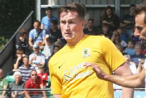 Charlie Harris late goal sealed victory and sent Horsham top. Picture by Derek Martin