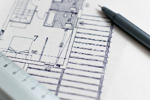 Building plans - stock picture