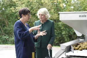 The Duchess of Cornwall visits Bolney Wine Estate. Pictures by Liz Pearce