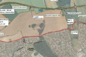 A map of the proposed M1/A6 link road