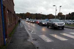 A visitor reported a 45 minute queue to get into the car park.