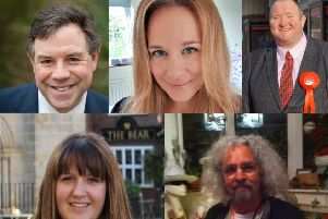 Top row, left to right, Jeremy Quin, Catherine Ross, Michael Jones. Bottomr row Louise Potter, Jim Duggan.