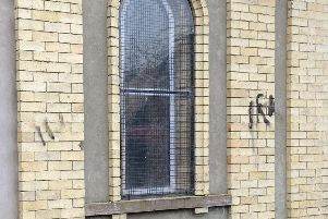 Police are treating the graffiti on Glenavy Orange Hall, over the first weekend of 2020, as a sectarian hate crime. (Photo: Cllr Gary McCleave).